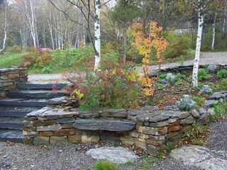 Pemaquid Point cottage photo - Gardens in the stone entry way