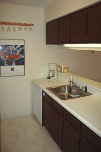 Nice large sink and a dishwasher...carefree vacationing!