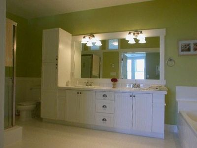 Large bright ensuite bathrooms