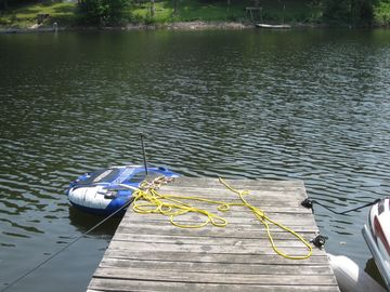 Dock to Swim off or park a boat at (docking fee applies if applicable)