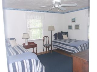 Brewster house photo - Third bedroom with twin beds; can be made a king
