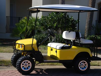Use of our golf cart during your stay is free.