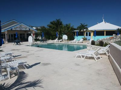 Palm Bay Beach Club Resort reception building, pool and the Splash Bar & Grill!