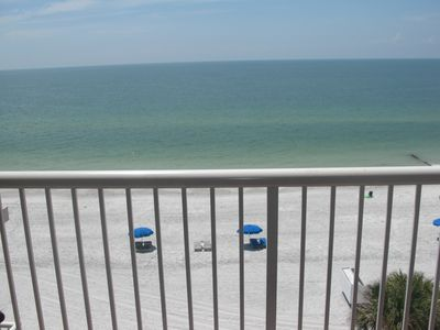 view from balcony of the Gulf of Mexico