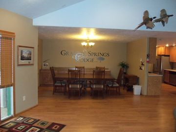 Upstairs dinning room.