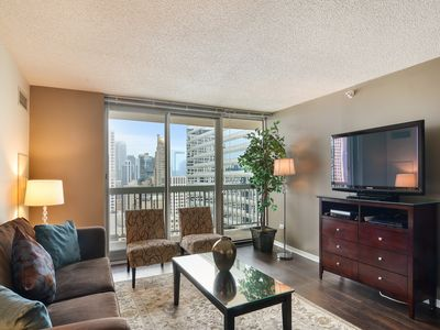 "Living/Family Room-Comfortable area with 46"" High Definition LCD TV and HD channels"