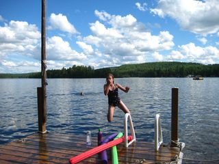 East Grand Lake cabin photo - swimming