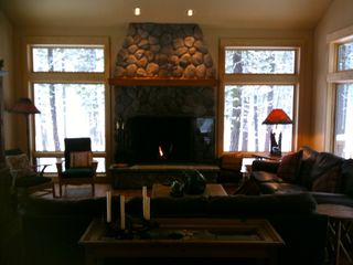 Black Butte Ranch house photo - Great Room with Fireplace