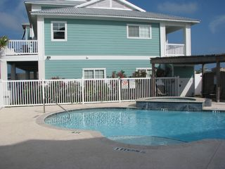 Port Aransas condo photo - A view of the pool right next to our unit.