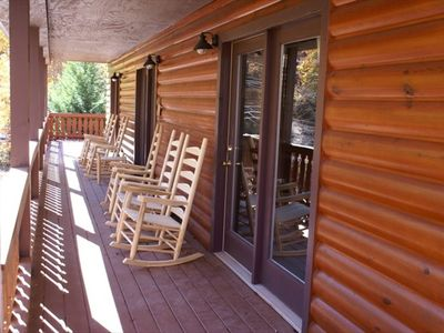 Wrap around decks and comfy rockers for your quiet days in the mountains