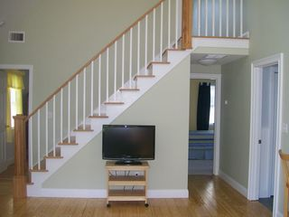 Edgartown house photo - Flat screen tv and stairs to loft