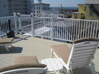 Cape May house photo - View 2 of New Back Top Deck and New Chaise Lounges - March 2012