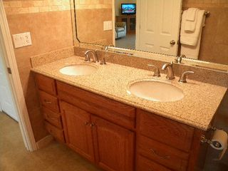 double granite vanity /walk in shower - Osage Beach villa vacation rental photo