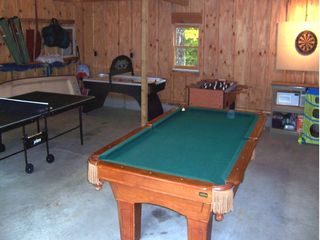 Lake Hortonia cabin photo - 8' Pool Table, Ping pong, Foosball, Darts, Air Hockey, kid games WOW!