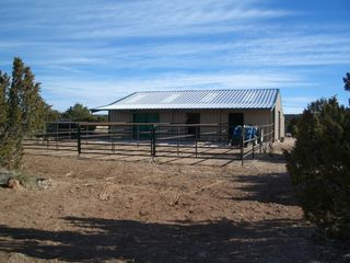 Mountainair villa photo - Keep an eye on your horses in 12X12 stalls w/50' runs w/awnings