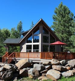 Munds Park cabin rental - Beautiful curb appeal. Extended front patio.