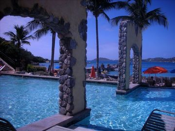 Refreshing pool with ocean views