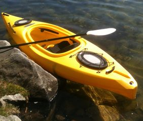Casco cottage photo - One of two new kayaks - very easy to use.