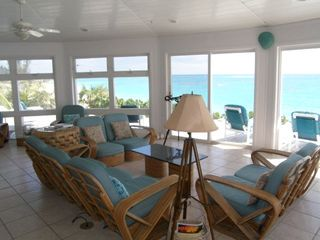 Elbow Cay and Hope Town villa photo - Living area facing the ocean. Imagine a sunrise over morning coffee!