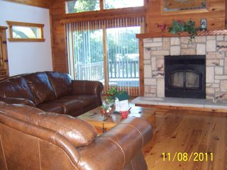 Decatur chalet photo - Lvng rm w/fireplace