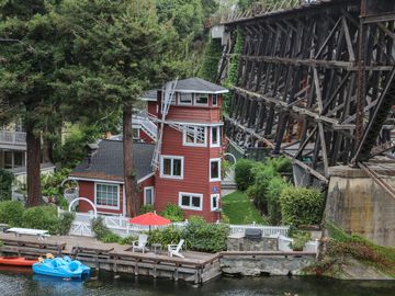 Capitola house rental - Summer time is when the boats are out for fun on the creek!!