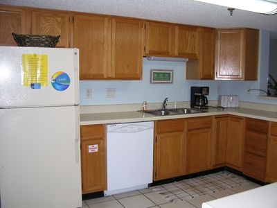 Large Kitchen Overlooks Dining/Living Room