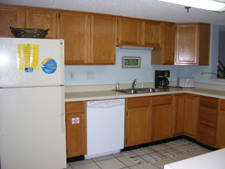 Fort Walton Beach condo photo - Large Kitchen Overlooks Dining/Living Room