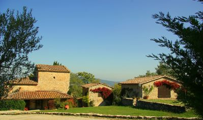 Luxurious family farmhouse in secluded 40 acre estate with magnificent views.
