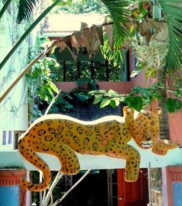"Balam (the Jaguar) welcomes you and bids you ""adios"" when you must leave us"
