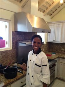 Talented Chef 'Que at home in Pinnacle's gourmet kitchen