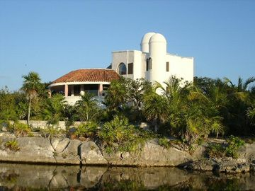 Casa Delfin from the lagoon