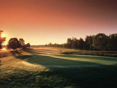 Morning sunrise on the Betsie Valley Golf Course.