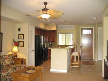 Open kitchen area