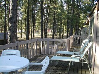 Sunriver house photo - Kick back and enjoy our private deck