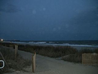 Blue Water Resort condo photo - Pier and Beach from Board Walk at Night
