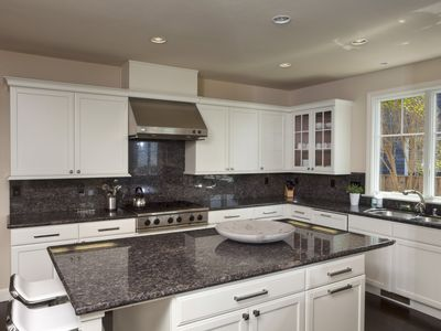 Chef's Kitchen with gas range and two dishwasher