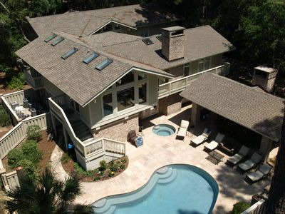 Sea Pines house rental - Tree top view.