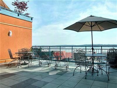 Rooftop barbecue area with breath taking view of the Puget Sound.