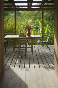 Cottage balcony from kitchen