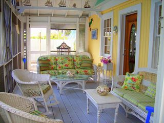 Seagrove Beach house photo - Our HUGE Our Huge Screen Porch ~ Imagine Wastin' the Day Away @ 'Banana Cabana!