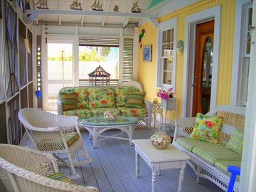Our HUGE Our Huge Screen Porch ~ Imagine Wastin' the Day Away @ 'Banana Cabana!