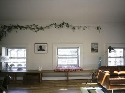 Greenwich Village apartment rental - front windows