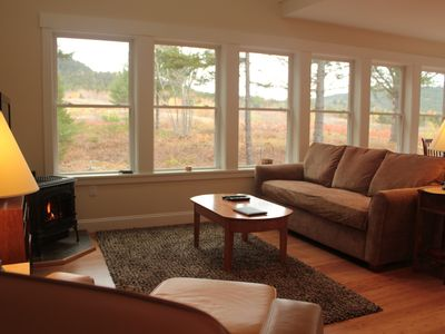 Living Area Overlooking Blueberry Field