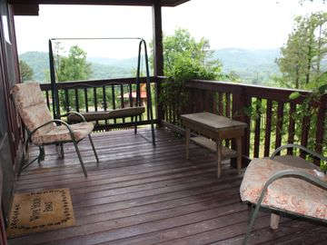 Mountain View cabin rental - Sit on the front porch and enjoy the views.