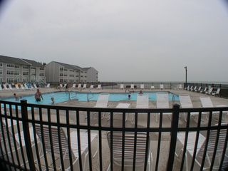 Port Clinton condo photo - pool , Lake Erie in the back ground
