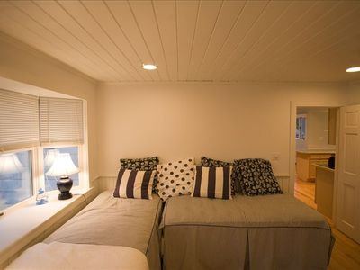 Biddeford house rental - studio bedroom downstairs with adjoining and separate entrance and bathroom