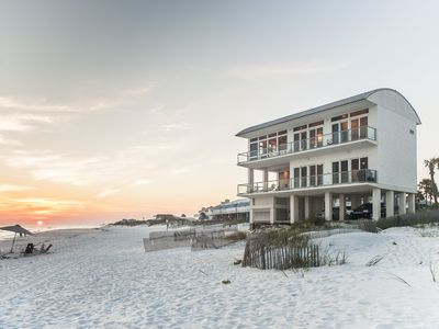 Inlet Beach house rental - Looking back to house from water. 96' of private beach.