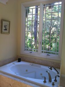 Jacuzzi Tub in Master Bath with Distant Water Views