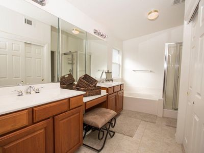 Master Bath with Tub, Shower, and Two Sinks