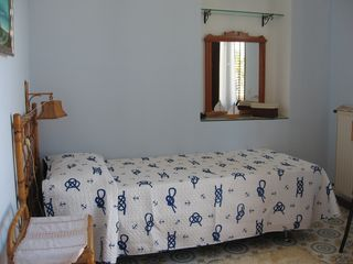 Balestrate house photo - The blue room shown with a single bed (twin or queen set up available)